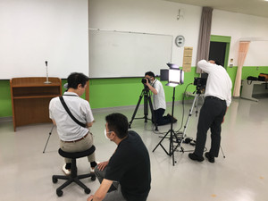 9月オープンキャンパス「未来研究ガイド」の撮影!